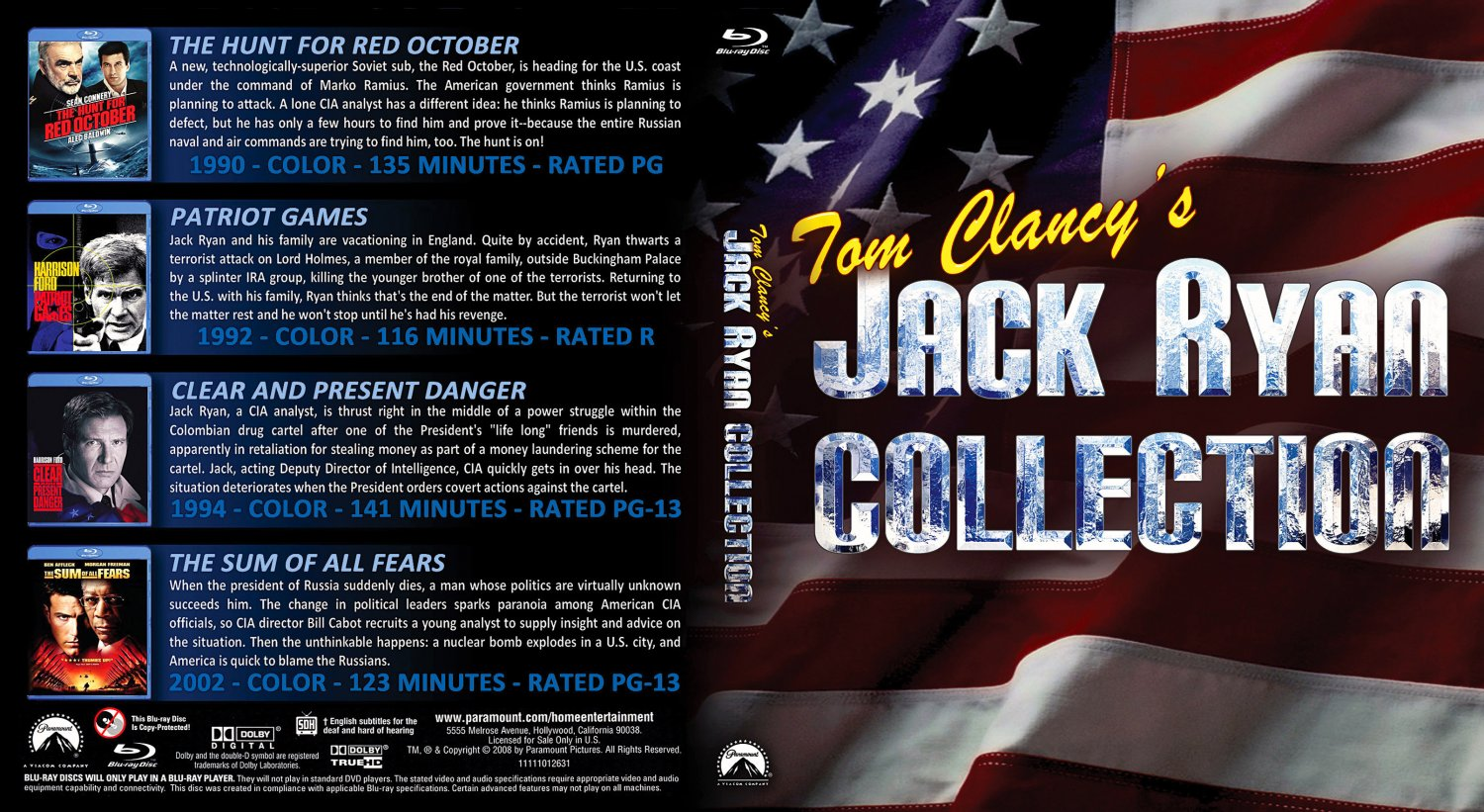 The jack ryan collection blu ray for The collection com