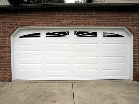Merveilleux This Is Our New Insulated Garage Door (with Its New Garage Door Opener:  Very Quiet!). And Diane Went With U201cSunriseu201d Windows! More Stimulating The  Economy!