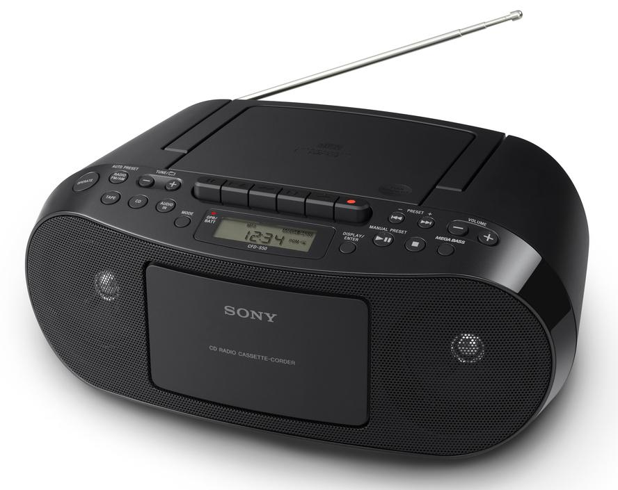 sony cfd s70 portable cd cassette am fm radio boombox. Black Bedroom Furniture Sets. Home Design Ideas